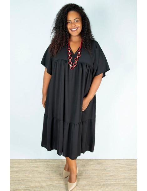 Robe Caraïbes Plus size - Noir