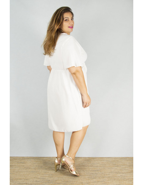 Robe courte Fanny - Blanc